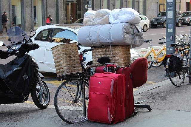 jízda na kole, stěhování